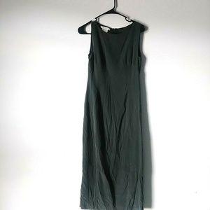 5/$15 Laura Ashely 4 Forest Green Sleeveless Dress